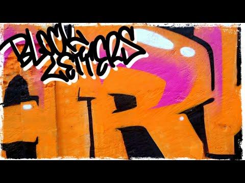 orange and teal BLOCK LETTERS - ZARK graffiti