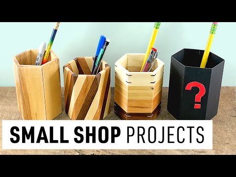 DIY Pencil Holders 4 Ways | How To Make Wood Pencil Holders