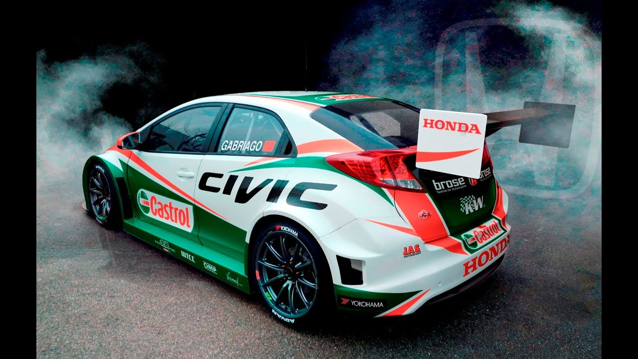 Honda Civic Wtcc Castrol Racing Team At 2014 Geneva