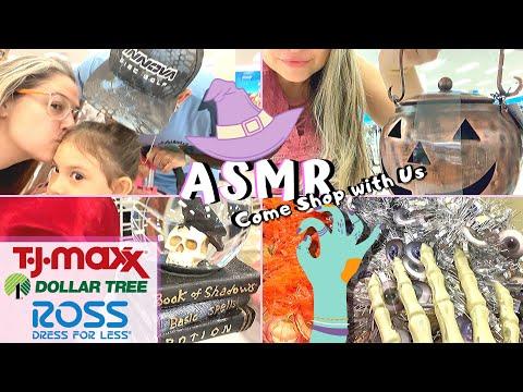 ASMR Adventures #14 | Vlog Halloween Shopping at Ross TJ Maxx Dollar Tree Stores | Rayna