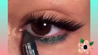 Изумрудный макияж глаз Makeup eyes tutorial