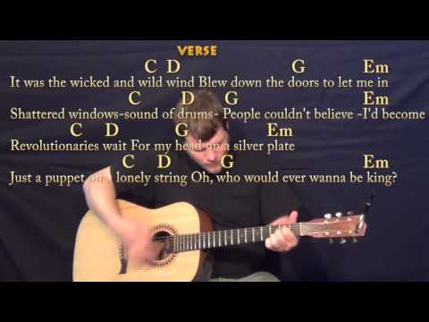 Viva La Vida (Coldplay) Strum Guitar Cover Lesson In G With Chords/Lyrics
