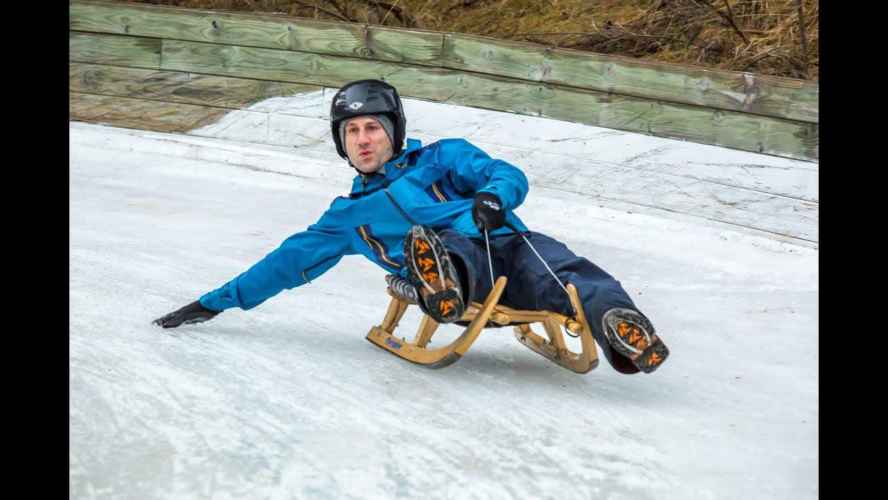 Naseby Ice Luge - Stoked for