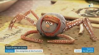 Tours : Création insolite d'araignées en tissus