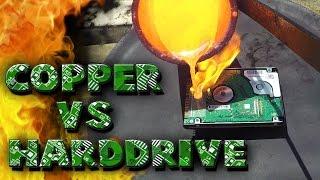 Molten Copper vs Hard Drive