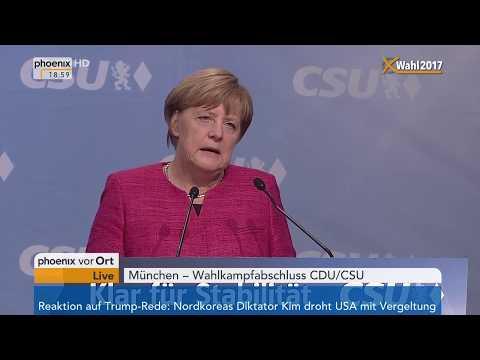 Wahlkampfabschluss von CDU/CSU: Reden u.a. von Angela Merkel und Joachim Herrmann am 22.09.2019