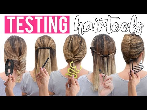 TRYING 5 WEIRD HAIR TOOLS | PATRY JORDAN