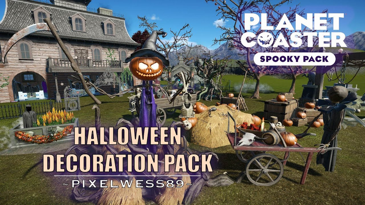 planet coaster halloween decoration pack with 15 items spooky pack dlc