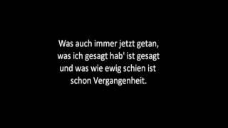 Wolfsheim - Kein Zurück Lyrics