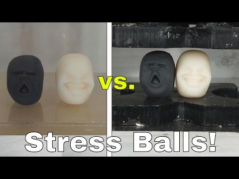 I Put Japanese Anti-Stress Balls in a Vacuum Chamber and Hydraulic Press