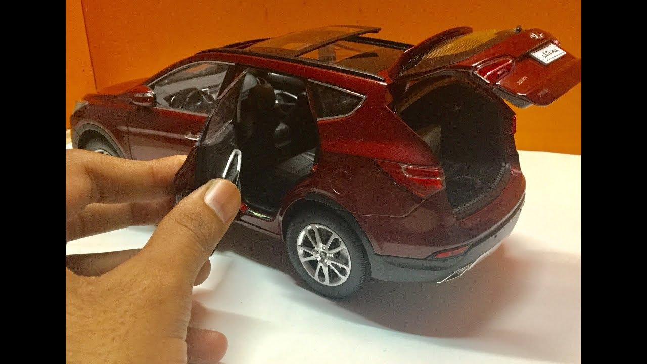 Diecast Unboxing 2014 Hyundai Santa Fe 1 18 Paudi Models