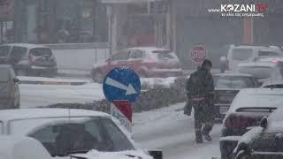 Πυκνή χιονόπτωση στην Κοζάνη (9-1-2019)