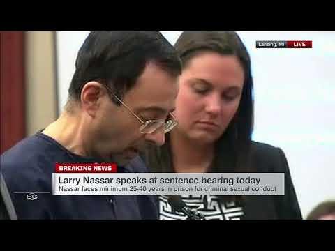 Larry Nassar reads statement in court before sentencing | ESPN