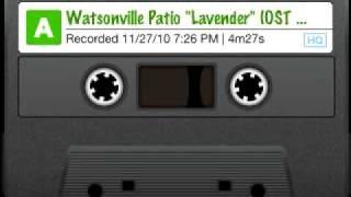 "Watsonville Patio ""Lavender"" (OST Mojave Moon)"