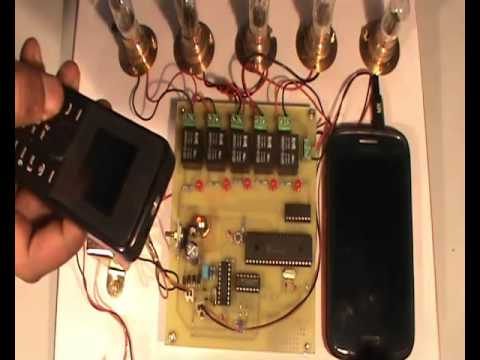 Cell Phone Controlled Home Appliance Switching by PIC