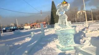 Ледовый городок красноярск 2016
