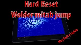 hard reset wolder mitab jump reseteo y vuelta a estado de fabrica
