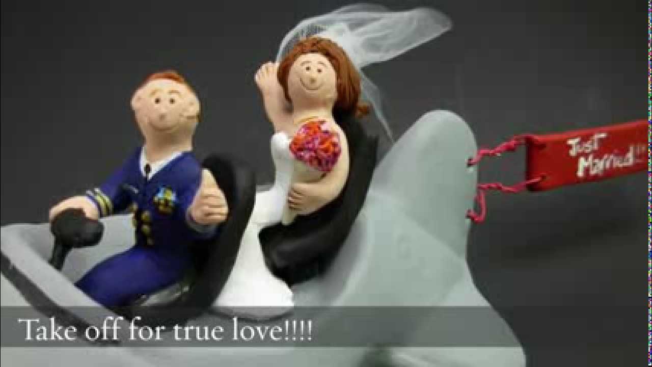 Air Force Jet Pilots Wedding Cake Topper