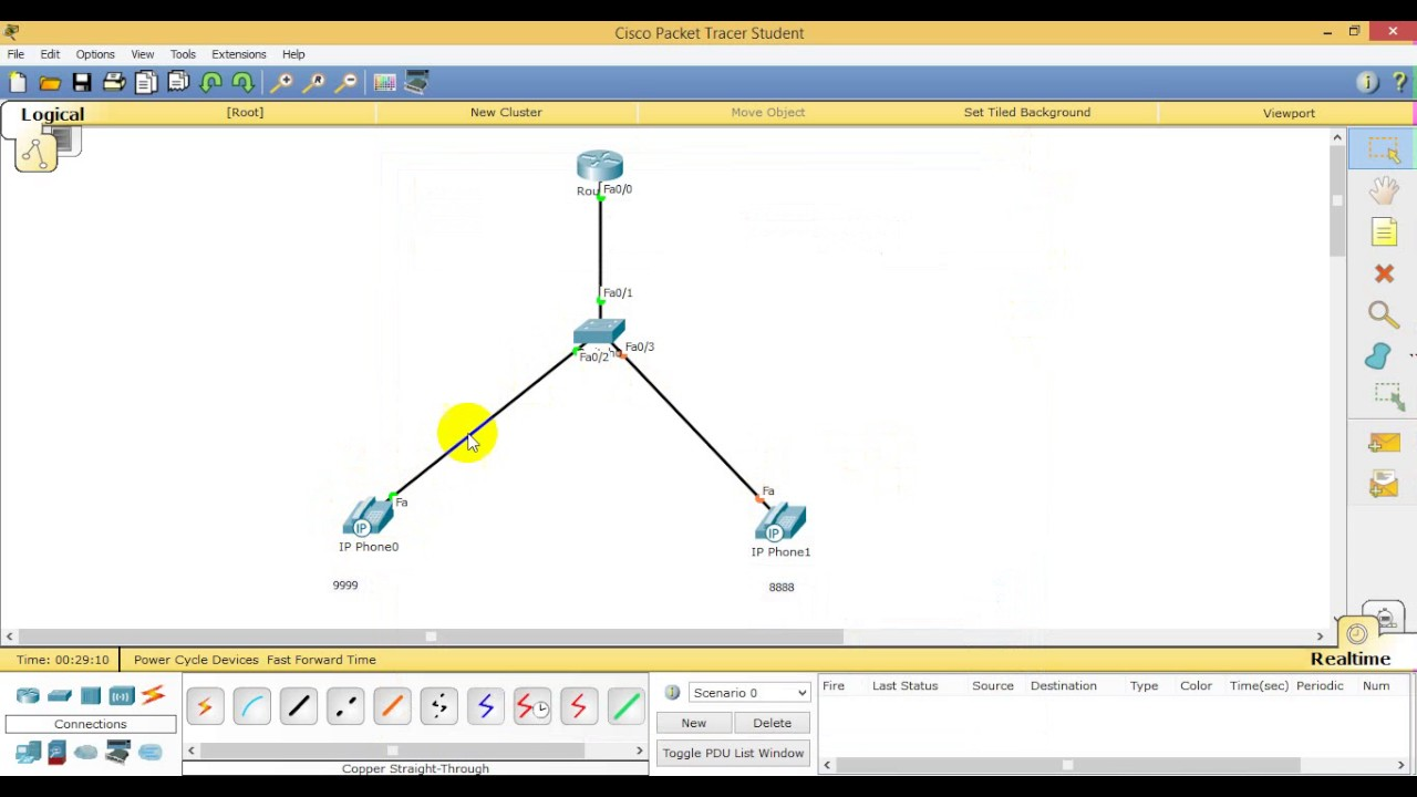 How to Configure VoIP Phone with CISCO Router in Packet Tracer, Part 2