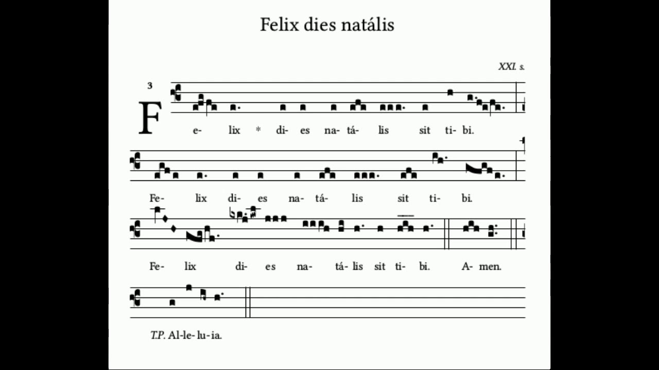 Happy Birthday in Gregorian chant (or sounds like it)