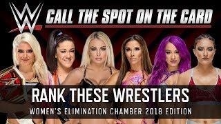WWE Elimination Chamber 2018 Women's Title Match Wrestlers Ranked (Smack Talk 324 | Call the Spot)