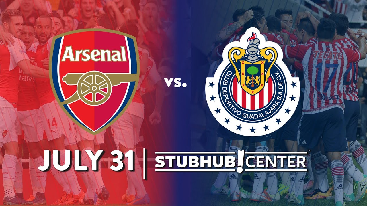 Arsenal vs chivas guadalajara july 31 2016 stubhub center chivas guadalajara july 31 2016 stubhub center youtube voltagebd Choice Image
