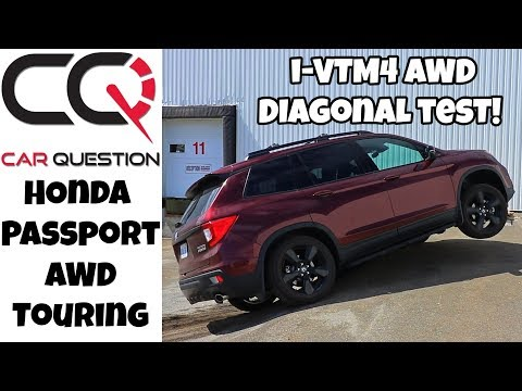 Honda Passport AWD | Diagonal test | I-VTM4 in all drive mode!