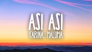 Farina, Maluma - Así Así (Lyrics)