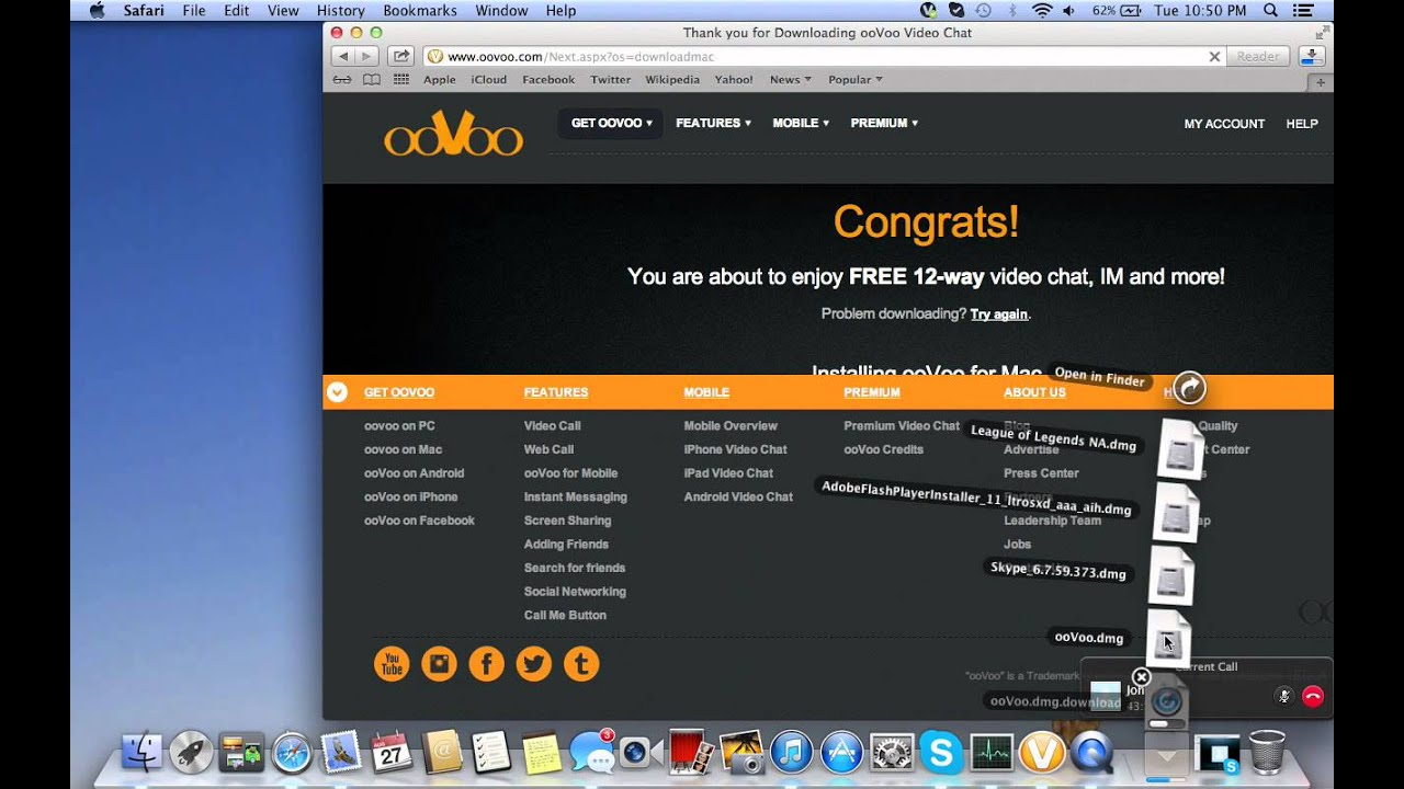 How to download OOVOO on a mac