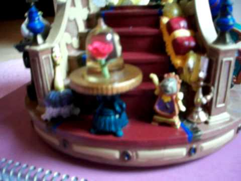 Beauty And The Beast Fireplace Snowglobe playing The Beauty And The Beast