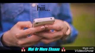 A Cute Love Story Conversation -- Hindi Short Conversation He & She -- Best True Chat For GF & BF
