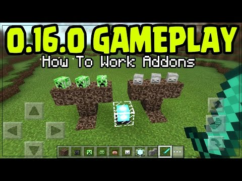"MINECRAFT PE 0.16.0 GAMEPLAY!! ""ADD-ONS"" How To Use Addon TUTORIAL!! Minecraft PE (Pocket Edition)"