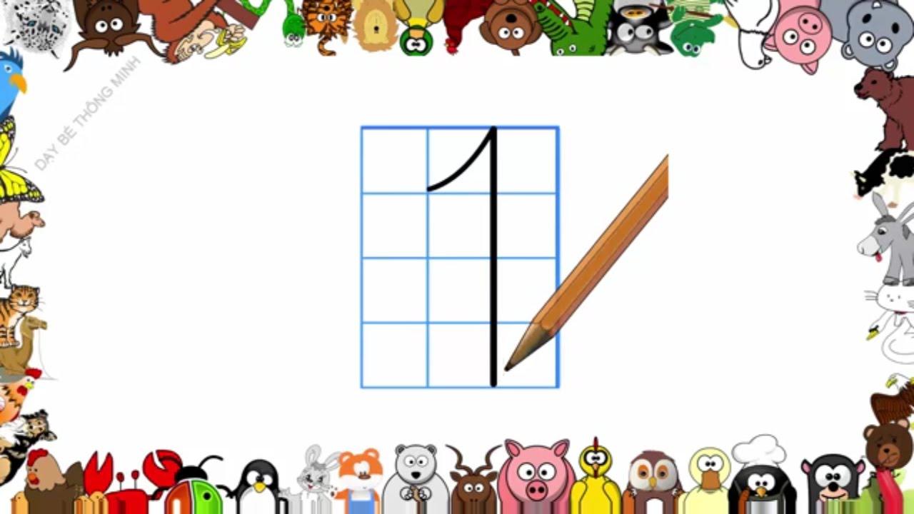 Bé học chữ | Em tập viết chữ số lớp 1 | Viết số 0,1,2,3,4,5,6,7,8,9 | Dạy bé thông minh