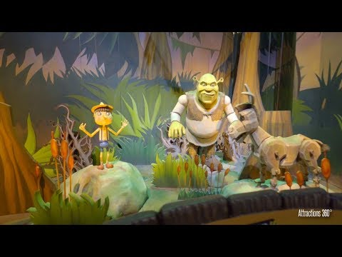 [4K] Shrek Ride - Trackless Dark Ride - Motiongate Theme Park in Dubai