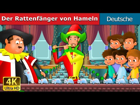 Flecista z Hameln | Gute Nacht Geschichte | Märchen Für Kinder | 4K UHD | Deutsche Märchen