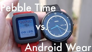 Pebble Time vs Android Wear | Pocketnow