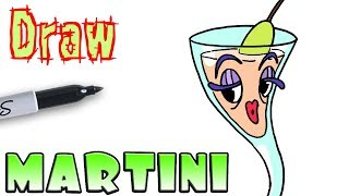 How to Draw Tipsy Troops Martini | Cuphead