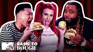 $20 Veggie Burgers 🍔 & $8 Frog Legs ft. Justina Valentine | Basic to Bougie Season 3 | MTV