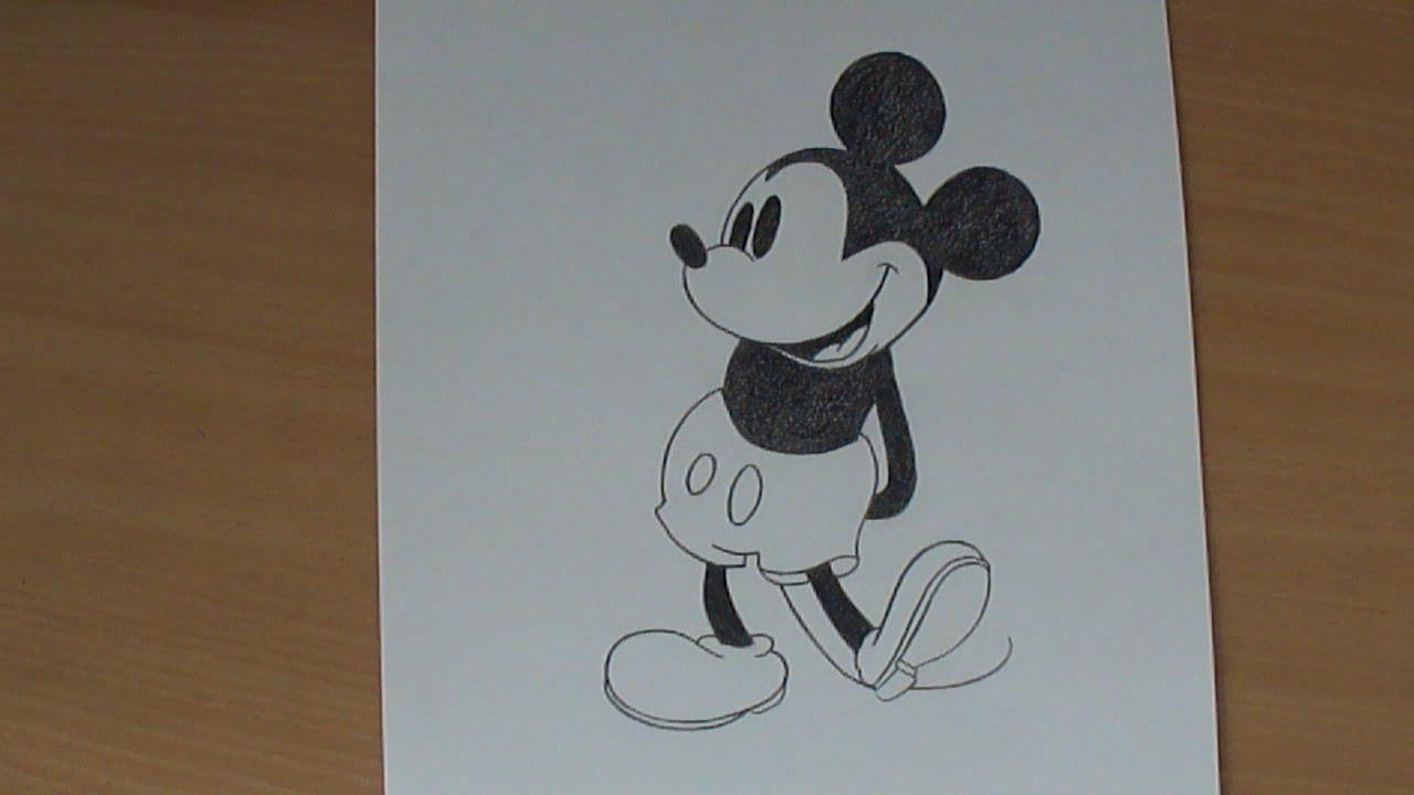 Dibujo De Mickey Mouse De Walt Disney How To Draw Mickey Mouse