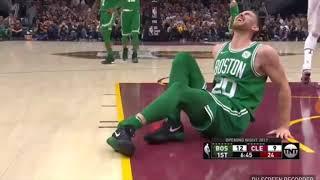 Gordon Howard - Broke A Leg ( Terrible Injury ) OMG - Celtics vs. Cavs - 2017 NBA Season!