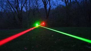 Burning Green Laser Experiments + STREET LIGHT SHUT OFF!