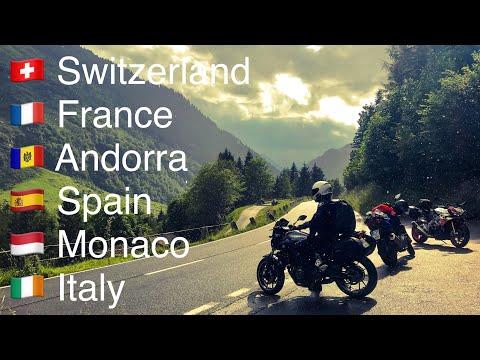 Motorcycle touring from Switzerland to Spain | Best biking roads in Europe | #Trip2Catalunya