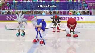 Mario & Sonic Olympic Games 2014 Ice Hockey with CK & DK
