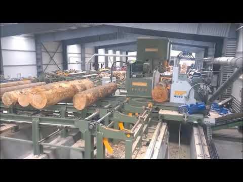Hydraulic Log Carriage & Log Bandsaw - Hard Wood
