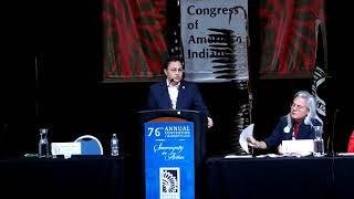 NCAI 2019 NATIONAL CONGRESS OF AMERICAN INDIANS - Chuck Hoskin Jr  Principal Chief Cherokee Nation