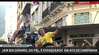 URGENTE! Bolsonaro leva facada em atentado! Ao vivo!