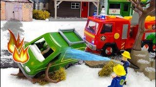 Feuerwehrmann Sam Feuerwehrauto Film ❄️ Ein gefährlicher Schneeball 🔥 Spielzeug Film für Kinder
