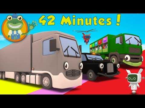 Larry The Lorry and More Big Trucks For Children | Gecko's Garage