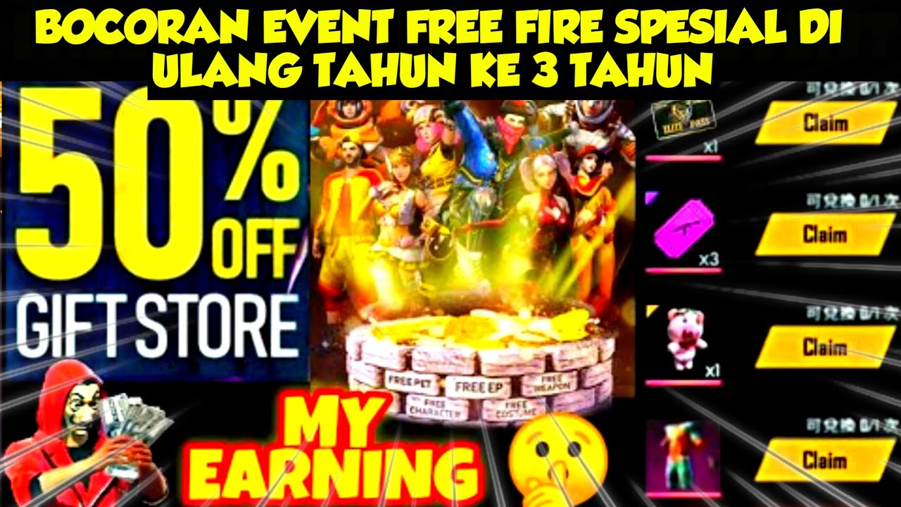 🔥FREE FIRE - INFO UPDATE BOCORAN FREE FIRE TGL 22 Elite PassS27 Gratis, Panen Magic Cube,Magic Shop