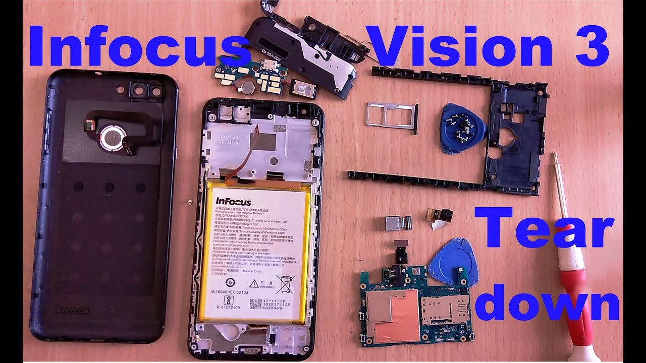 new style d80cb 5a352 Teardown Infocus Vision 3 Smartphone | Disassembly Infocus Vision 3 |  Repair | Replacement Parts